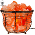 Natural Himalayan Ionic Rock Crystal Salt Light Lamp Air Purifier Dimmer Basket