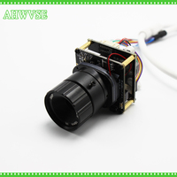 AHWVSE 48V POE Camera Module Board Long Distance View 16mm CS Lens IRCUT IP 2MP With