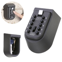1 stks Black Security key Locker Outdoor Combinatie Verbergen Sleutel Veilig Lock Opbergdoos Wandmontage 105x65x55mm