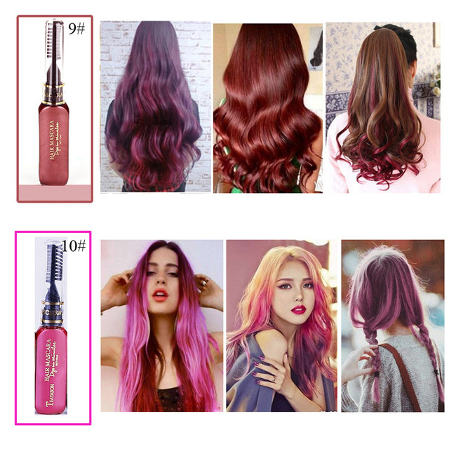 Online Shop 13 Colors One-time Hair Color Hair Dye Temporary Non ...