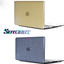 New arrive Shine Glitter Hard Case For apple Macbook Pro Retina Air 11 12 13 15,Air 13 A1369 A1466 A1932 ,For Mac New pro 13 15