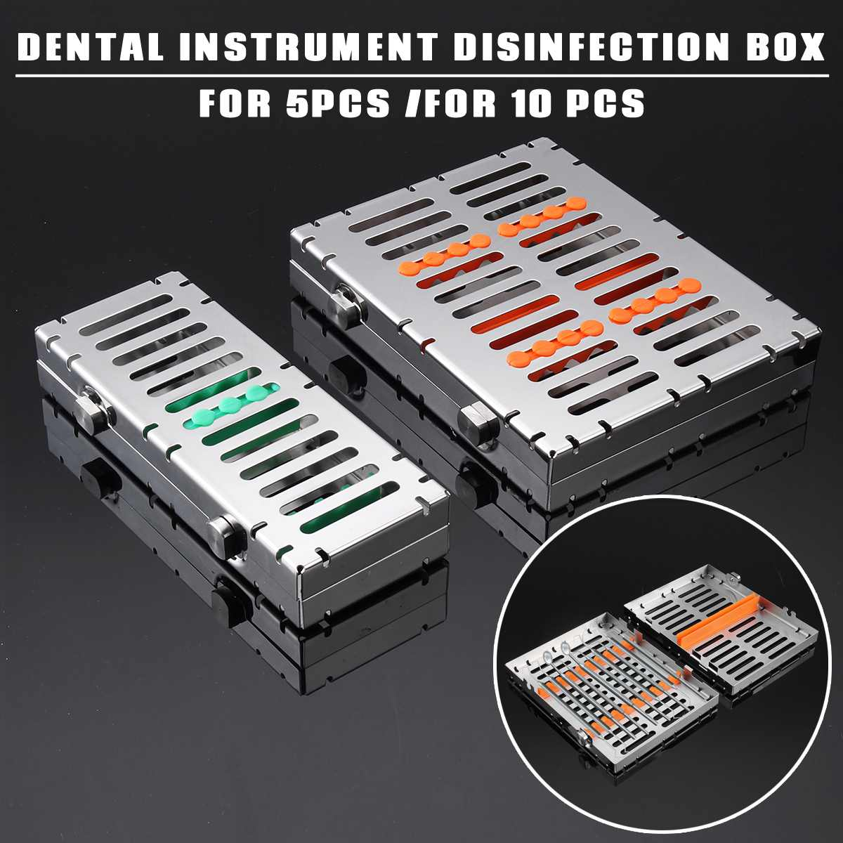 Dental Sterilization Autoclave Cassette Tray Box Rack Linker Disinfection Holder Surgical Instrument Clinic Tool for 5/10PcsDental Sterilization Autoclave Cassette Tray Box Rack Linker Disinfection Holder Surgical Instrument Clinic Tool for 5/10Pcs