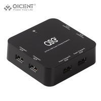 QICENT DH6U 9A BK Super 6 Port Smart USB Charger 5V 8 8A 44W With US