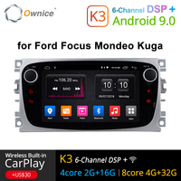 Ownice K1 K2 K3 Android Car DVD Player 2 Din radio GPS Navi for Ford Focus Mondeo Kuga C MAX S MAX Galaxy Audio Stereo Head Unit