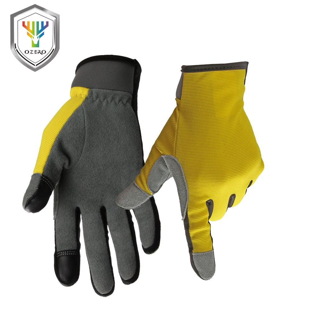 Motorcycle gloves deerskin - Ozero Motorcycle Gloves Screen Touch Deerskin Moto Gloves Breathable Outdoor Sports Racing Cycling Bike Motocross Gloves 8009