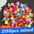 200PCS Mix 10mm 20mm 30mm Kids DIY Toys Material Kindergarten DIY Handcrafts Doll Ball DIY Decoration Ball DIY Fur Ball DY11