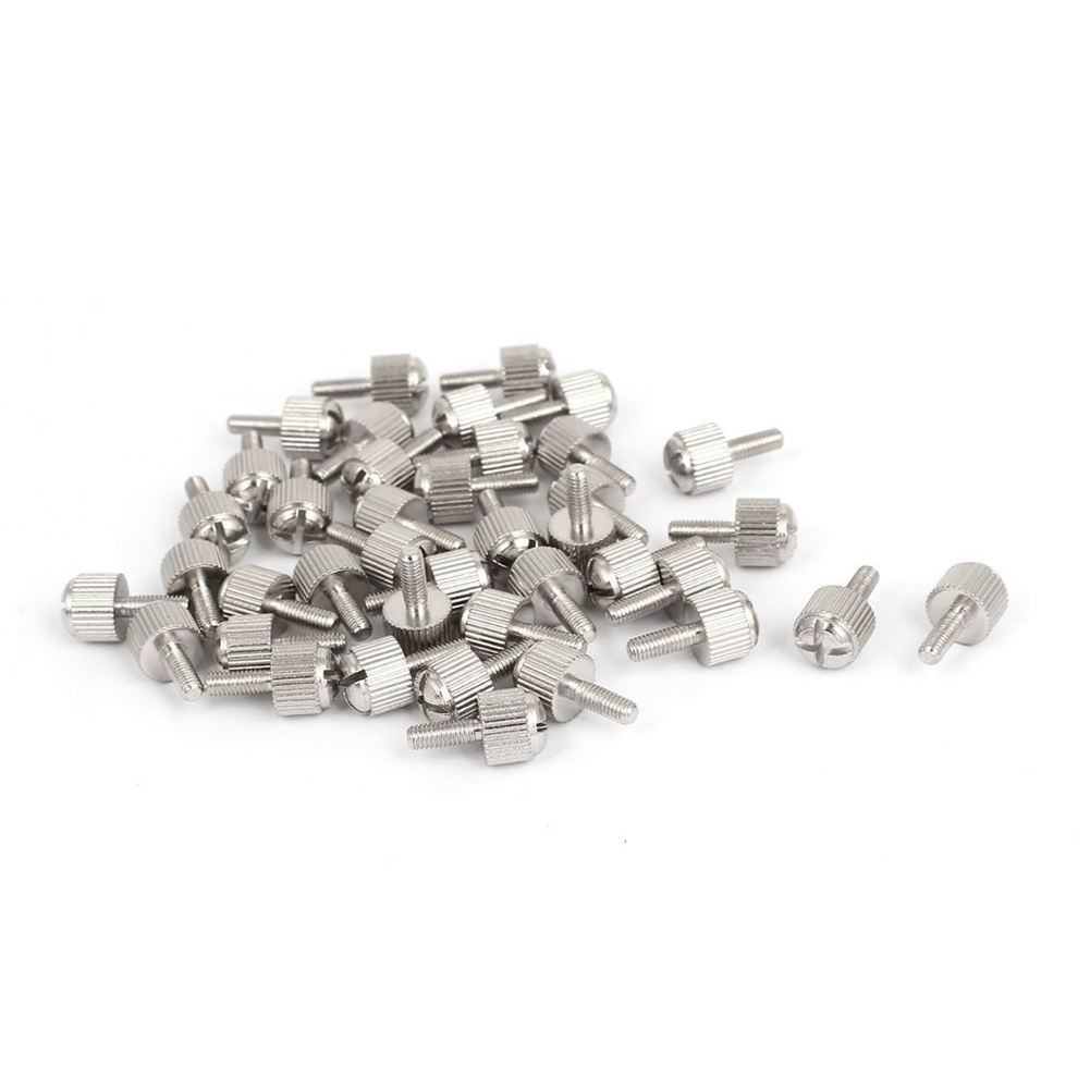Computer PC Case M3x8mm Metal Knurled Head Phillips Thumb Screw 40pcs 50pcs thumb screw m3x8mm m3 for diy computer pc case sil