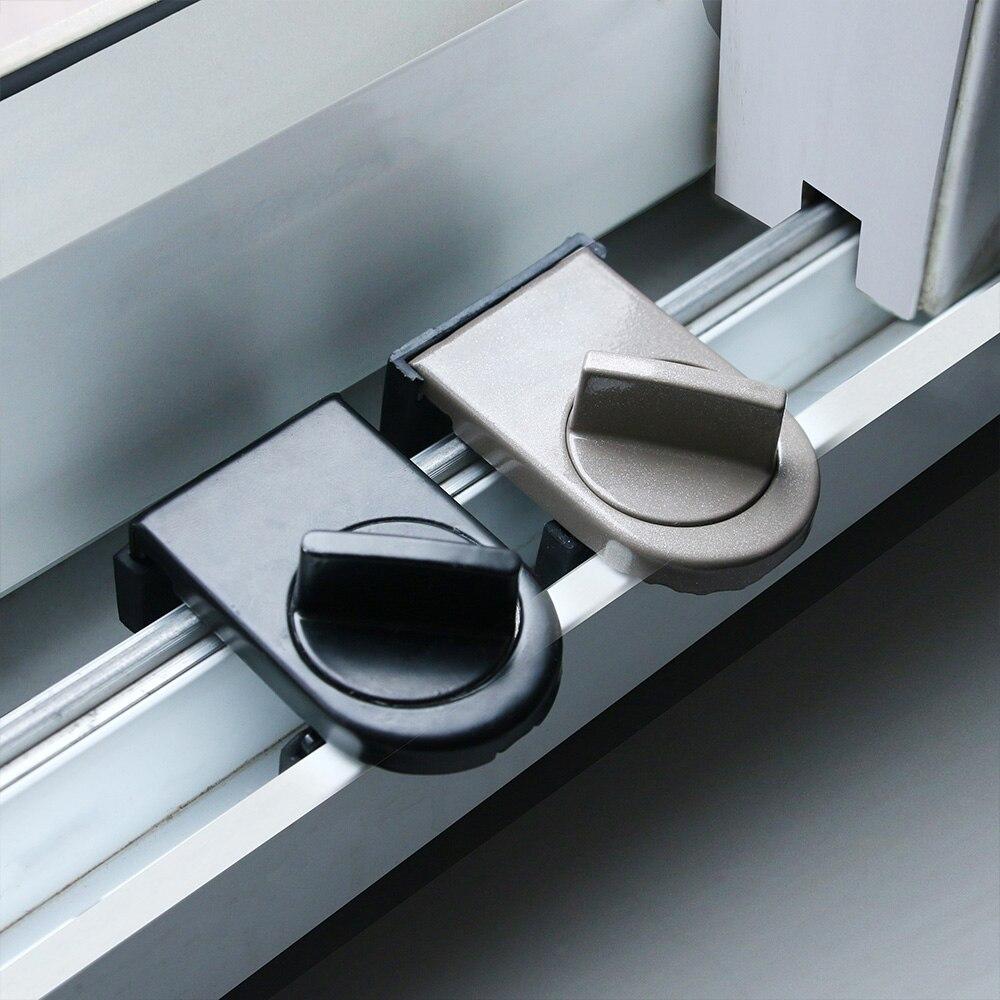 Anti-theft Door Window Lock Security Latches Sliding Sash Stopper Child Safety