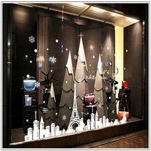 Креативные предметы домашнего обихода Белая Башня город Рождественские снежинки оконное остекление