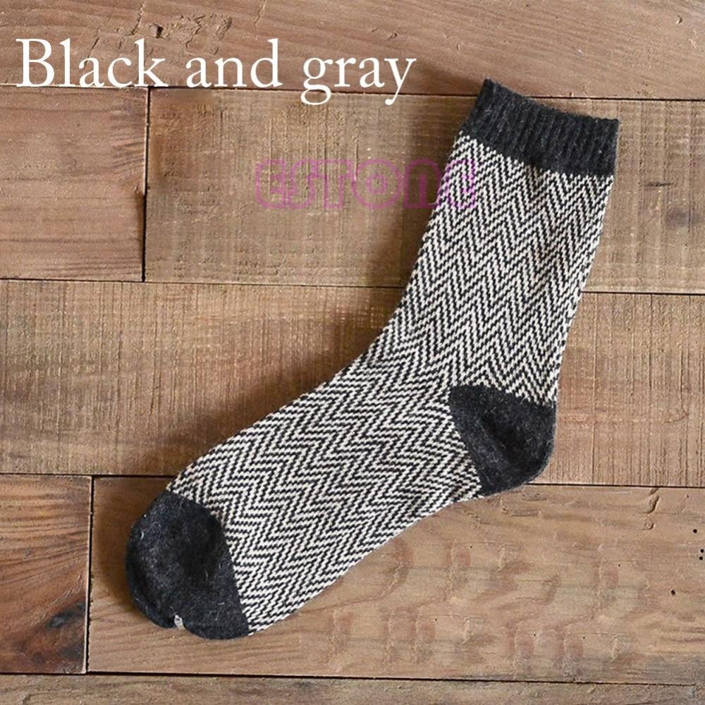 4 Pairs Men Warm Winter Thick Wool Mixture Angora Cashmere Casual Dress Socks
