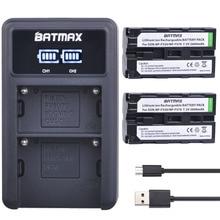 2Pcs NP F550 NP F330 NP F530 NP F570 NP F730 NP F750 Bateria 2600mAh + LED USB Carregador Duplo para Sony CCD SC55 CCD TRV81 MVC FD81