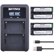 2Pcs NP F550 NP F330 NP F530 NP F570 NP F730 batteria 2600mAh + LED caricatore doppio USB per Sony NP F750 CCD SC55