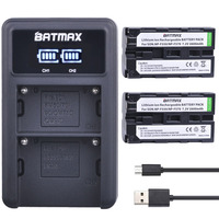 Bateria dupla para sony NP-F550 NP-F330 NP-F530  2 peças  NP-F570 NP-F730 NP-F750 2600 CCD-SC55 CCD-TRV81 mah + led usb carregador duplo para sony MVC-FD81