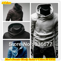 Free Shipping M XXXL Spring Autumn Winter 100 Cotton Warm Slim Fit Sport Outwear HoodyJacket For