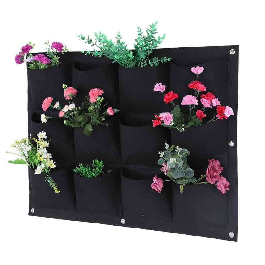 12 карманов, мешок для выращивания растений, настенная сумка для посадки, сумка для выращивания растений, вертикальный садовый мешок для овощей, садовая сумка, товары для дома