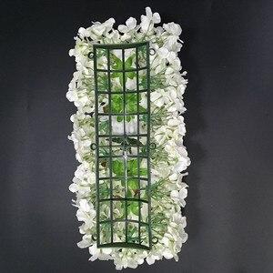 Image 5 - Flor de seda artificial 2 pces 50cm estrada do casamento chumbo hortênsia peônia rosa flor casamento arco quadrado pavilion cantos decoração flores