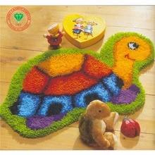 Knüpfteppich Kits DIY Handarbeiten Unfinished Häkeln Teppich Garn Kissen Matte Wohnkultur Stickerei Teppich Teppich Cartoon schildkröte