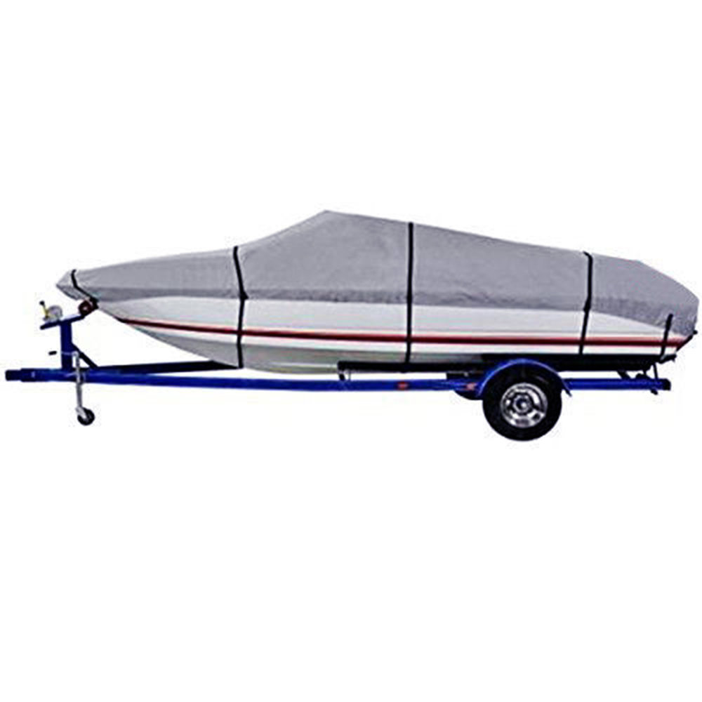 Durable 600D Oxford Waterproof Heavy Duty Fabric Trailerable Pontoon Boat Cover Storage Tool Accessories black heavy duty 14 16ft 600d beam 90inch trailerable marine grade boat cover for yacht boat waterproof anti uv boat accessories