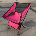 Portable Assembled Chair Folding Ultralight Durable Aluminium Seat Stool Fishing Camping Hiking Gardening Beach Outdoor Orange