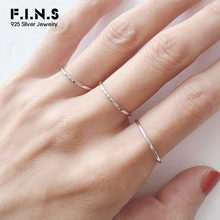 F.I.N.S Real 925 Sterling Silver Ring Minimalist Open Adjustable Ring Fashion Wedding Bands for Couples Fine Jewelry Female Ring
