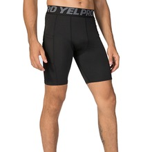 Mens Underwear Football Tights Summer Athletic Gym Fitness Sports Running with Pocket Base layer Compression Shorts