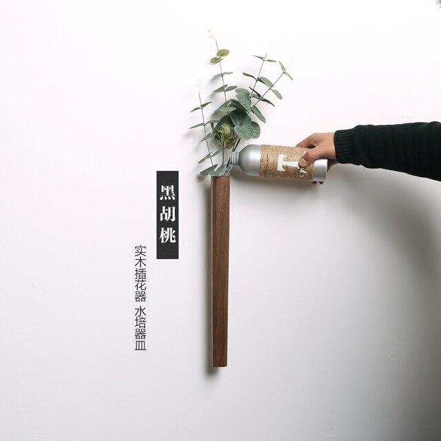 Nordic Handmade Solid Wood Wall Flower Vase 1
