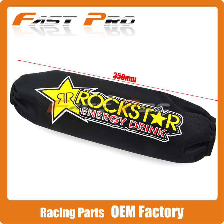 Fast Pro racing 350mm Rear Shock Absorber Suspension Protector Protection Cover For CRF YZF KTM RMZ KLX Dirt Bike motorcycle ATV Quad Motocross