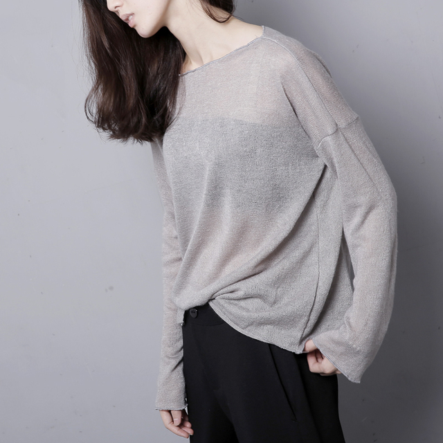 5aa58082bf Women s korean style oversize sweater women winter black grey oversized  knit sweater women sweaters and pullovers designers