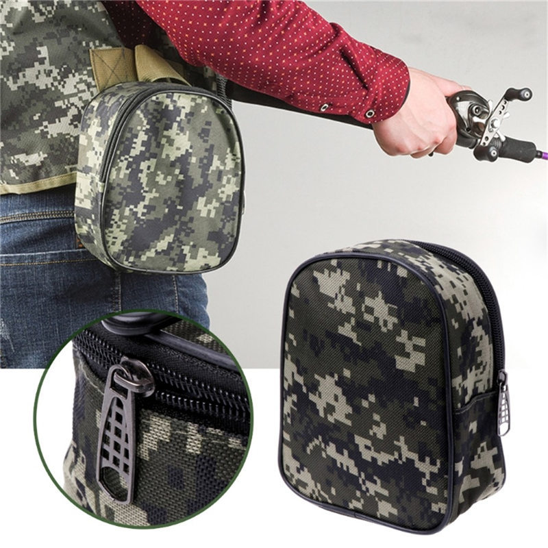 Portable Fishing Reel Mini Bag Pocket Fishing Tackle Pouch Case Outdoor Sports