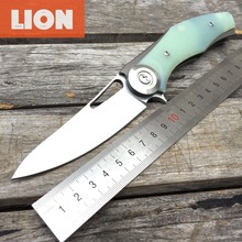LDT Dark Bear Folding Blade Knives D2 Blade Titanium Plating G10 Handle Camping Knife Hunting Survival Outdoor Pocket Tools OEM