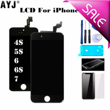 Display For iPhone 5S SE 6 6S 7 4S LCD Touch Screen Digitizer Assembly Replacement No Dead Pixel No Dust Warm White Back light стоимость