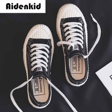 High quality classic womens canvas shoes 2019 autumn new low cut flat vulcanized casual