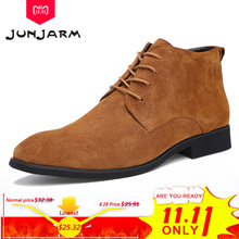 JUNJARM Breathable Leather Boots Outdoor