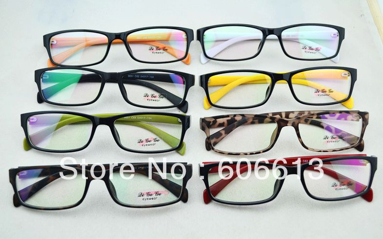 big discount prescription computer eyewear plastic optical eyeglasses frame 24pcslot free
