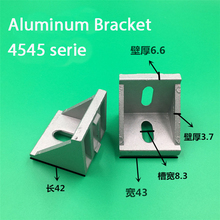 цена на 10pcs 4545 Brackets Corner fitting angle aluminum 45x45 L Connector bracket fastener for 4545 Industrial Aluminum Profiles