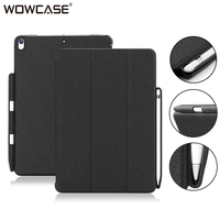 WOWCASE Pencil Holder Cases For iPad Pro 12.9 Case Business Luxury Leather Flip Back Cover Protector For iPad Pro 12.9 Accessory
