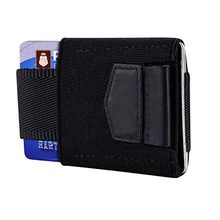 Elastic Front pocket Credit Card Holder Vintage ID Card Holder Protection Purse Wallet Small thin slim Minimalist wallet(China)
