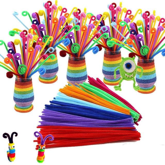105 قطعة من مواد بينداروس مونتيسوري لعصي سيقان الشانيل للرياضيات لغز حرفي للأطفال منظف الأنابيب لعبة تعليمية مبتكرة