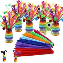 105pcs lot bendaroos Montessori Materials Math Chenille stems Sticks Puzzle Craft Children Pipe Cleaner Educational Creative