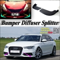 Car Splitter Diffuser Bumper Canard Lip For Audi A6 For RS6 C6 / C7 Tuning Body Kit / Front Deflector Flap Fin Chin Reduce Body