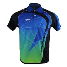 TSP koszulki do tenisa stołowego (Design in Japan) koszulki męskie damskie Badminton ping pong Cloth Odzież sportowa Koszulki treningowe tanie tanio 83105 Pasuje do większych niż zwykle Sprawdź informacje o rozmiarach tego sklepu Unisex