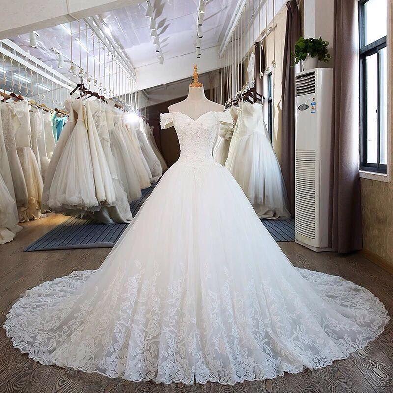 ウェディングドレス Vestidos デ Noiva ハイネックドレス長袖結婚式パーティードレス 20190612  グループ上の ウェディング & イベント からの ウェディングドレス の中 1