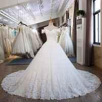 Wedding Dress Vestidos De Noiva High Neck dress Long Sleeves Wedding Party dress 20190612