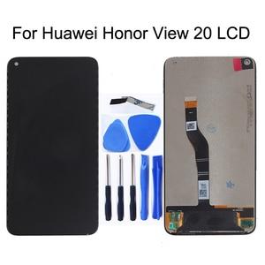Image 1 - ЖК дисплей с дигитайзером сенсорного экрана, для Huawei Honor V20 View 20, оригинальный, 6,4 дюйма, запасные части для телефона Huawei Nova 4