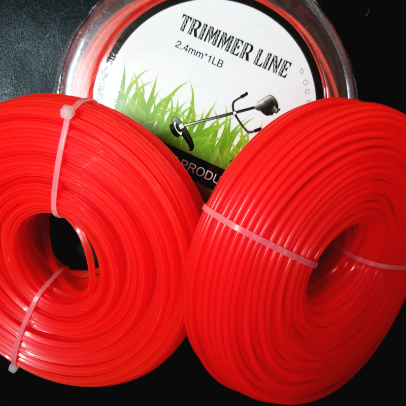 2.4mm/3mm X 1LB Mowing Nylon Line Round/Square Brush Cutter Strimmer Trimmer  Wire Grass Trimmer Head Long Roll Mowing Wire