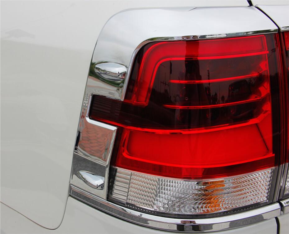 JINGHANG voiture ABS Chrome feu arrière couvercle de lampe garniture pour 08-18 Toyota Land Cruiser Prado 150 2008-2018 livraison gratuite