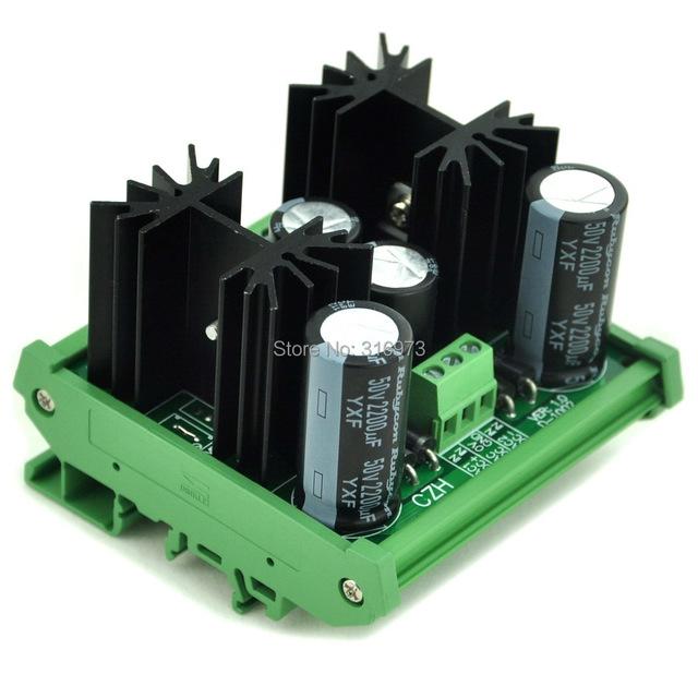 Montaje En Carril DIN Positivo y Negativo +/-24 V DC Módulo Regulador de Voltaje de Placa.