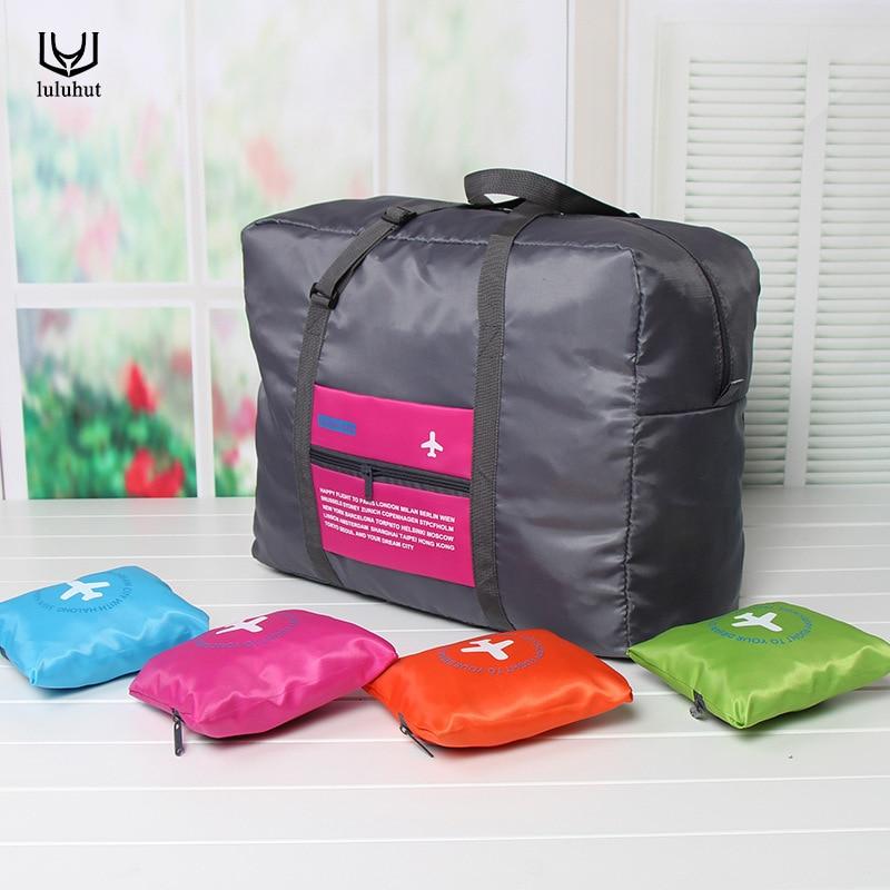 luluhut Beg penyimpanan saiz besar perjalanan bagasi beg besar kapasiti beg lipat perjalanan pouch tas menjual panas