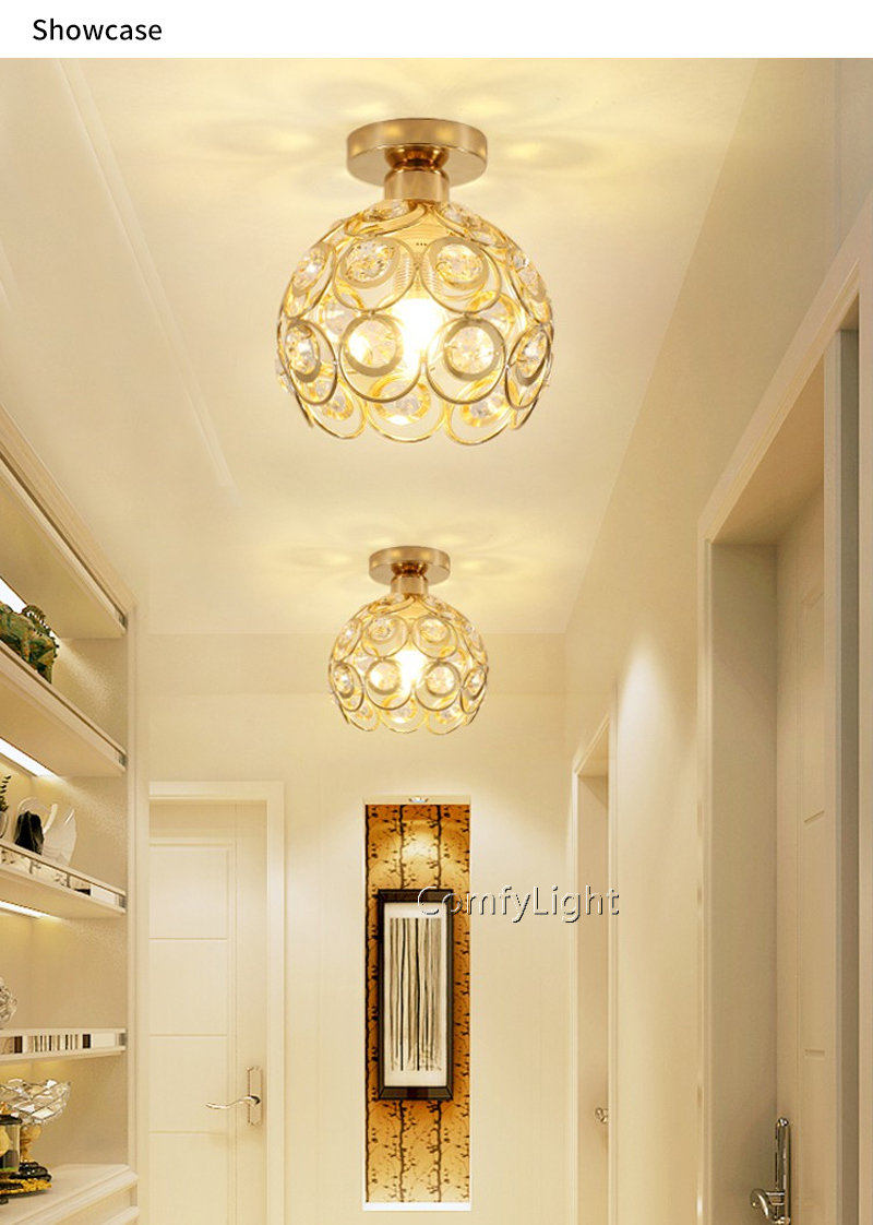 Led Kitchen Ceiling Lights For Living Room Roof Lampa Lamp Crystal Kitchen Lights Ceiling Hallway Light Fixtures Round Led Ceiling Lights Aliexpress