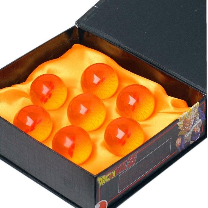цена 10 sets/lot Dragon Ball Toys Crystal Balls 7pcs/box Dragonball Goku Figure set Size 4cm shipping by DHL/Fedex